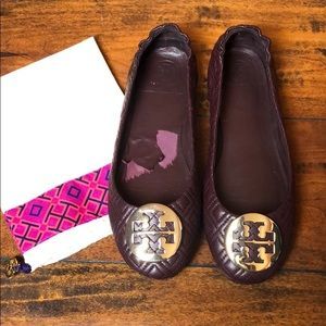Tory Burch Quilted Minnie Ballet Flats